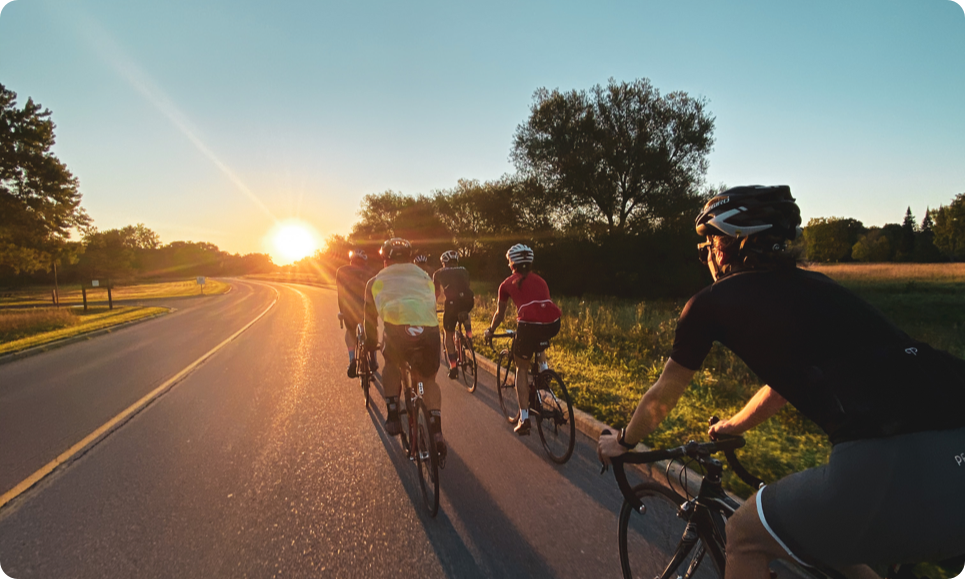 Monday group cycling ride in Ottawa on the Aviation Parkway